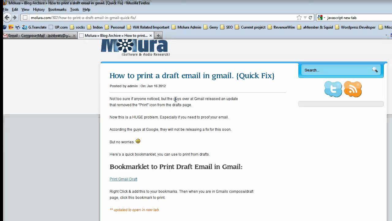 how to delete drafts in gmail