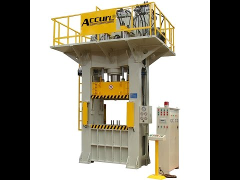 H frame SMC Compression Moulding Hydraulic Press | 300 tons SMC Manhole Cover Press Machine