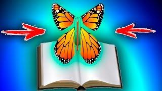 как сделать летающую бабочку из бумаги