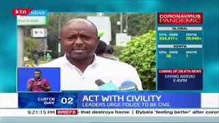 Act With Civility: Leaders condemn police brutality