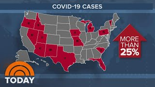 Growing Concern As States See 25% Spike In Coronavirus Cases Amid Reopening | TODAY