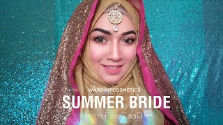 Wardah Summer Special Makeover for Hijabi Bride | Pari ZaaD
