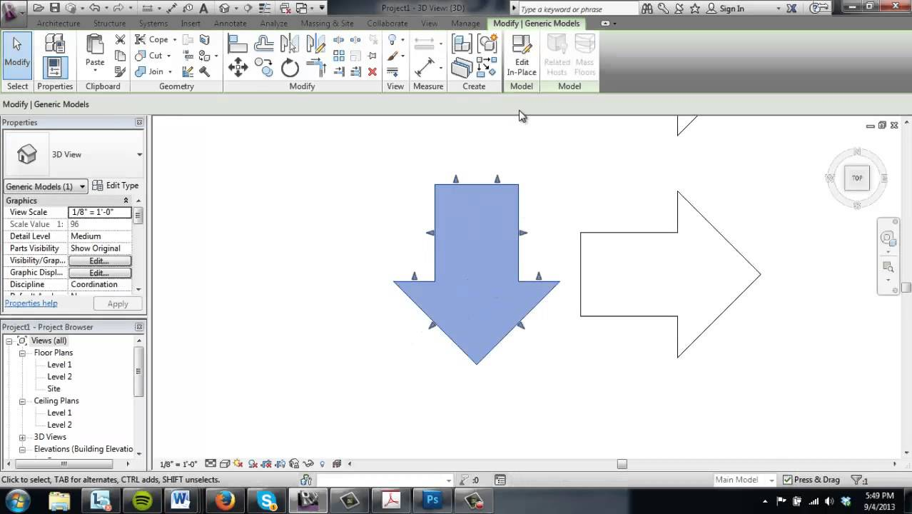 Revit Tutorial 3 Model In Place Components Youtube