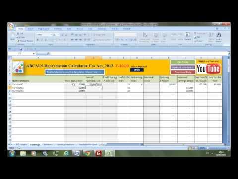Excel depreciation calculator companies act 2013 youtube excel depreciation calculator companies act 2013 ccuart Choice Image