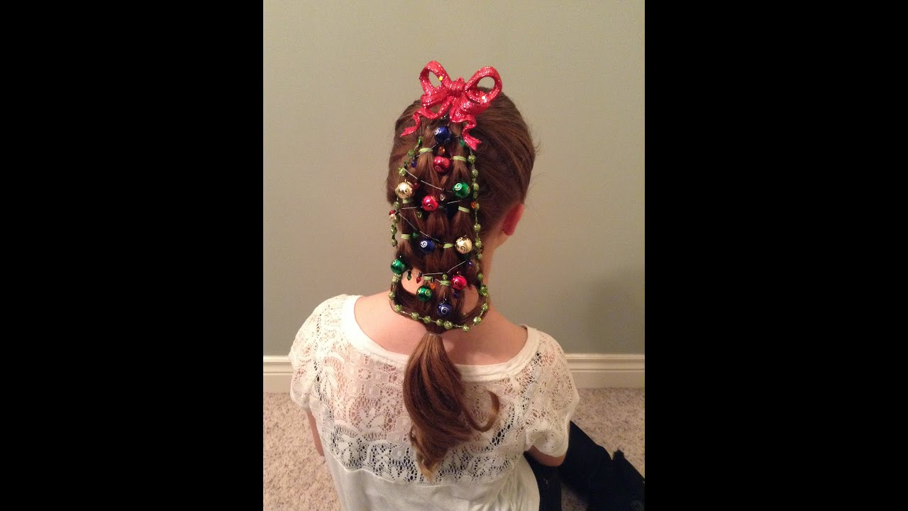 holiday hairstyle--christmas tree - youtube