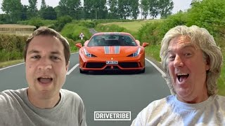 James May and Doug DeMuro discuss the 458 Speciale and Tesla