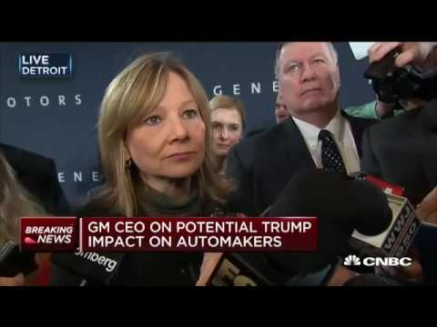 GM CEO speaks about China, President-elect Trump,  #autonomous driving and more.
