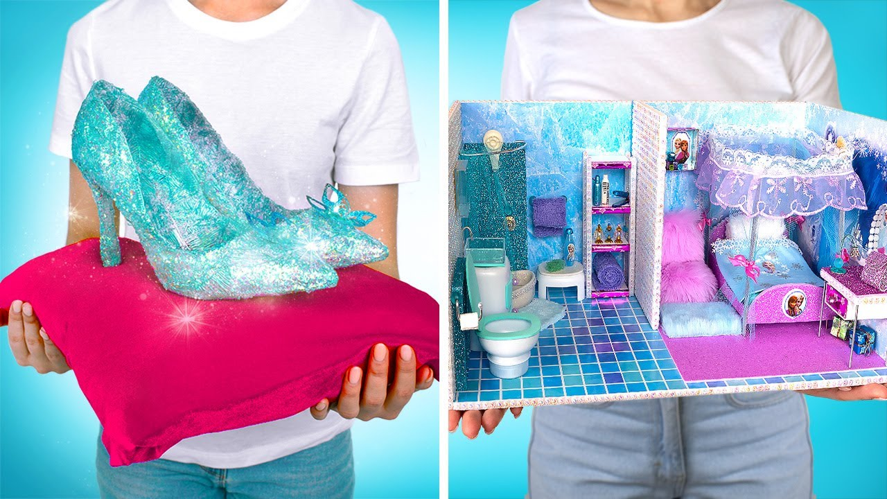 Awesome Crafts For Real Princess    DIY Glass Shoes And Magical Mini Apartment