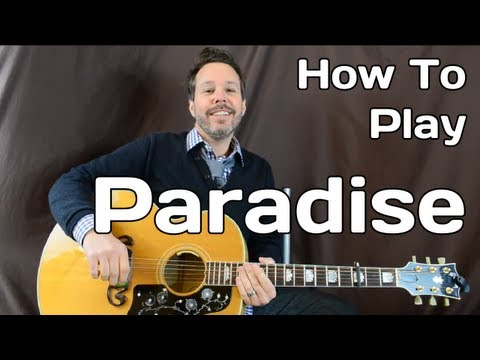 Paradise Coldplay - How To Play - Guitar Lesson - Easy