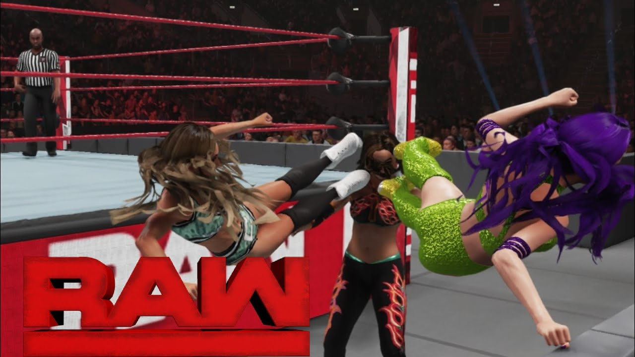 WWE 2K19 RAW GIGI AND CARMELLA VS ICONICS WWE WOMENS TAG ...