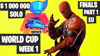 Fortnite World Cup WEEK 1 FINAL Part 1 Highlights - EU Solo Day 2 [Fortnite Tournament 2019]
