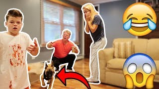 MY DOG ATTACKED ME PRANK ON PARENTS!