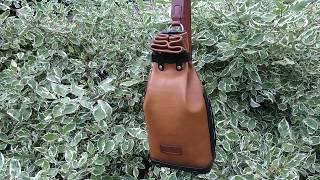 Рюкзак (вещевой мешок). Натуральная кожа. Седельный шов.
