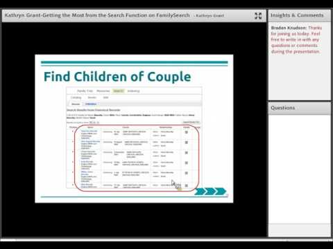 Getting the Most from the Search Function on FamilySearch  Kathryn Grant