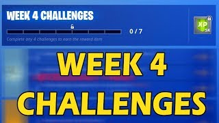 [ALL WEEK 4 CHALLENGES] FORTNITE SEASON 6 LEAKED! ALL CHALLENGES EASY GUIDE