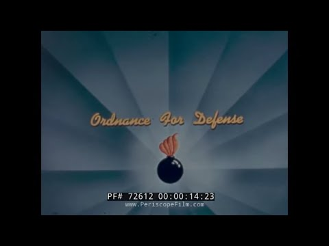 ORDNANCE RESEARCH AND TESTING FOR DEFENSE 1950s MILITARY FILM 72612