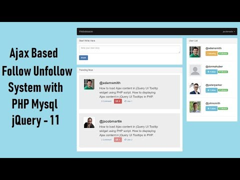 Ajax Based Follow Unfollow System with PHP Mysql jquery - 11 thumbnail