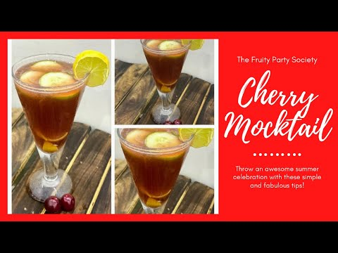 cherry mocktail recipe l Easy Cherry Mocktails | Simple Drink Recipes l Summer Cooler#Reny'sKitchen