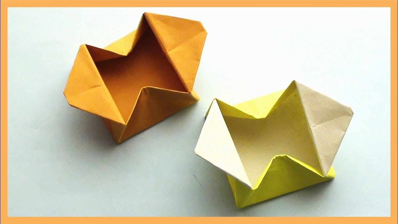 Easy Paper Origami Gift Box Youtube