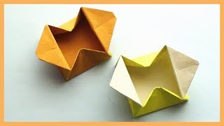 Easy Paper Origami Gift Box