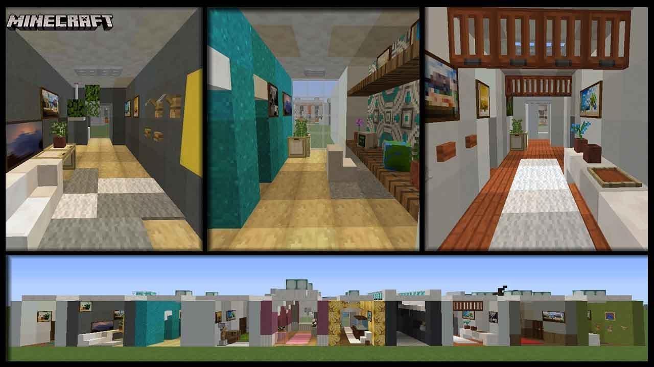 Minecraft - 10 Hallway Designs   Plus Tips