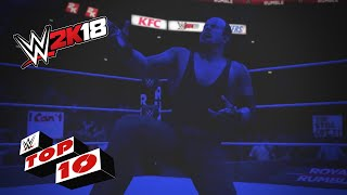 Royal Rumble Finishers Gone Wrong: WWE 2K18 Top 10