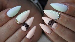 Pastel Ombre nails lakiery hybrydowe by Natalia Siwiec Indigo + Kryształy Swarovskiego