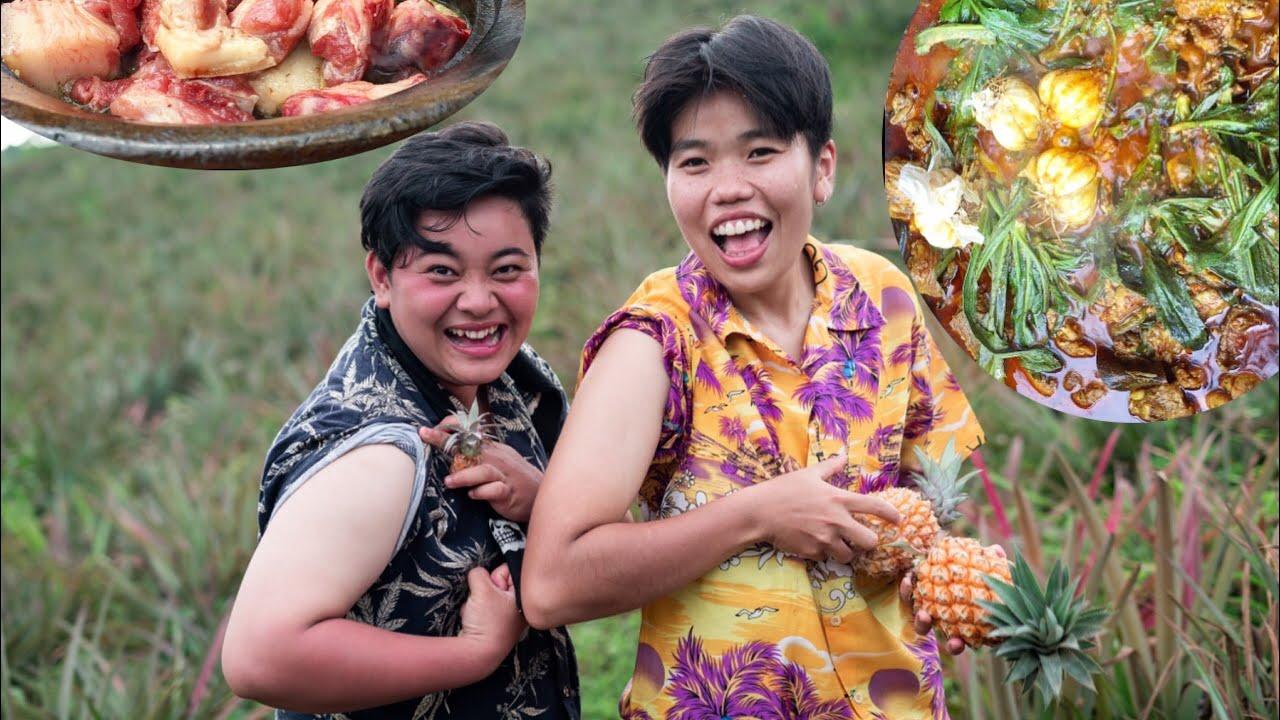 Doh Sein, Pork Bharta Mukbang at Pineapple Farm   ft. The Oomorok Trails & Chink7n   Meitei Mukbang