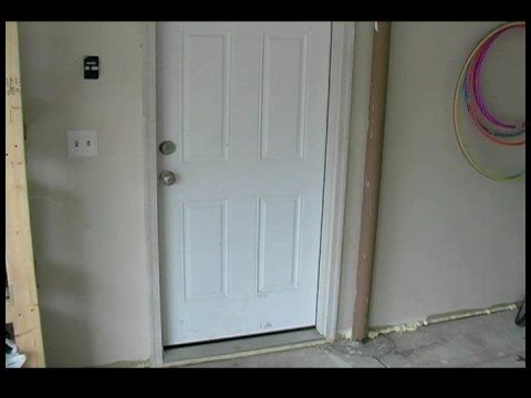 How to replace a garage entry door identifying problems with garage entry doors youtube for Exterior garage doors