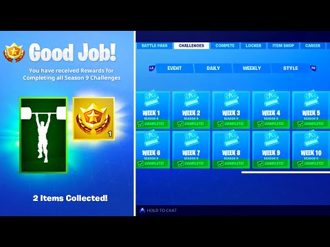 What Happens When You COMPLETE ALL Week Challenges In Fortnite! (NEW SEASON 9 REWARDS)