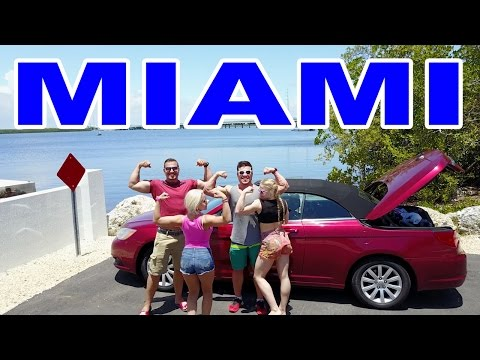 Miami, Key west, Florida. Traveling Couple