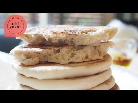 Bazlama Nasıl Yapılır? - İdil Yazar - Yemek Tarifleri- Homemade Pita Bread