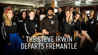Steve Irwin Departs Fremantle Today on Operation Icefish 2015-16