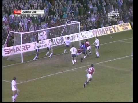Download 07/12/1986  Manchester United v Tottenham Hotspur