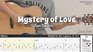 Mystery of Love - Sufjan Stevens | Fingerstyle Guitar | TAB + Chords + Lyrics