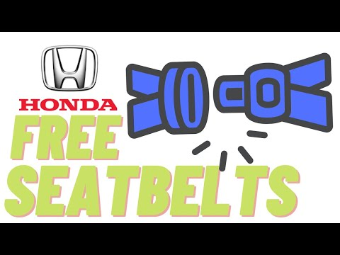 Don't Replace that Honda Seat Belt or Buckle, FREE HONDA SEAT BELTS!! HOW TO Reset Honda SRS LIGHT