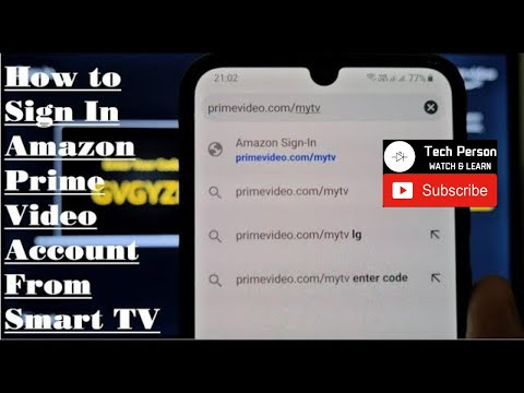 How To Sign In Amazon Prime Video Account From Smart TV