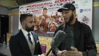 LYNDON ARTHUR; READY FOR NEXT FIGHT ON SATURDAY