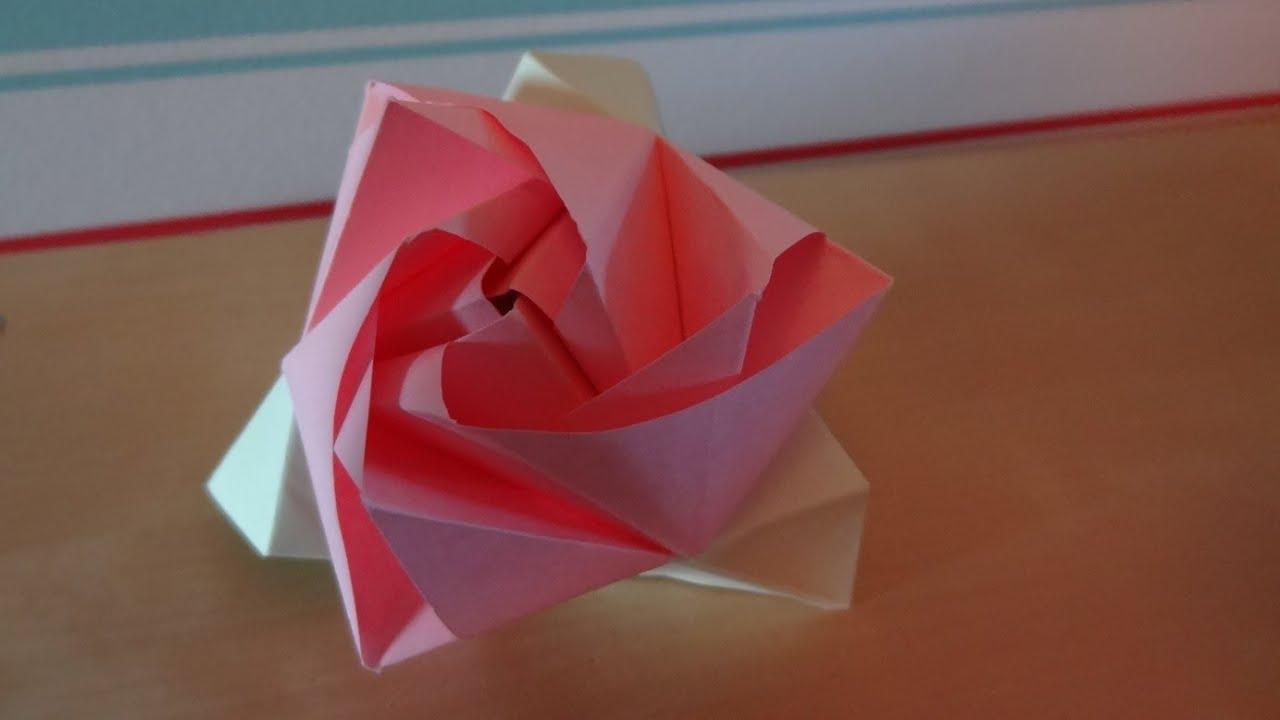 Origami Magic Rose Cube (Design by Valerie Vann) - YouTube - photo#47