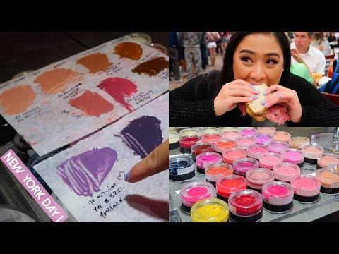New York Vlog Day 1 | Making My Own Lipsticks at Bite Beauty! Pulling An Allnighter