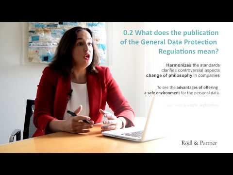 The New European General Data Protection Regulation, María Bardají