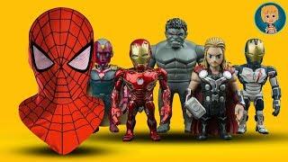 SpiderMan Mask - Iron Man + Avengers Kids Shopping (Gertit ToysReview)