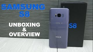 Samsung S8 Unboxing & Overview - Orchid Gray