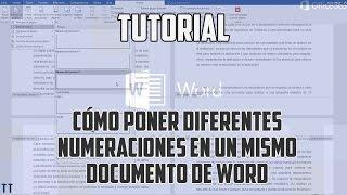 [Tutorial] Cómo poner diferentes numeraciones en un mismo documento de Word