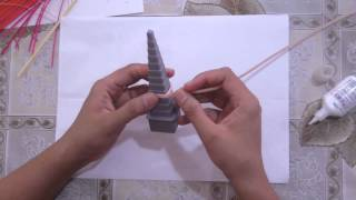 Using mandrel for making open coils/outlines for quilling