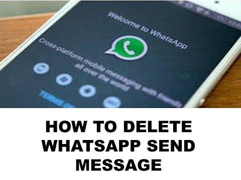 DELETE WHATSUP MESSAGE