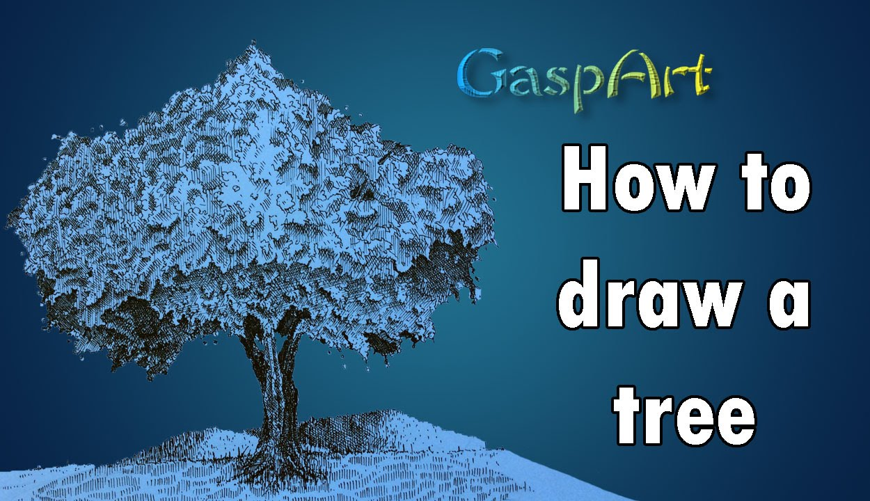 how to draw a tree pen