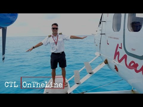 Flying around the Maldives in a Twin Otter on Floats