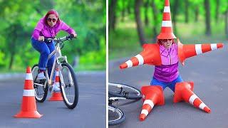 لحظات محرجة مضحكة وفشل / أنواع راكبي الدراجات