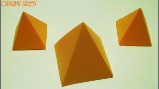 Как сделать пирамиду из бумаги А4 - Оригами пирамида